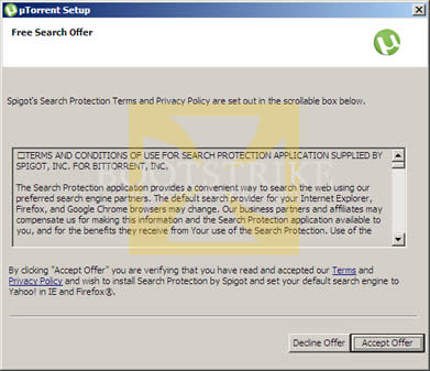 uTorrent Browser Bar Toolbar